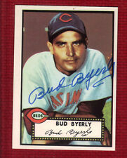 1952 Topps Reprint Autograph Auto BUD BYERLY #161 Cincinnati Reds Signed