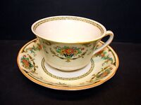 BEAUTIFUL JOHN MADDOCK ASHBY CUP & SAUCER SET [6] - PATTERN MAD87 - ROYAL IVORY