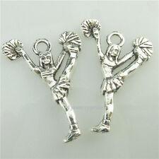 (98901-30X) Vintage Silver Tone Cheerleading Cheer Cheerleaders Pendant Crafts