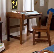 Child Desk And Chair Set Student Kids Traditional Chalkboard Top Homework Art