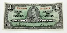 1937 Bank of Canada $1 Note Uncirculated Condition Pick #58