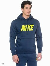 NEW Nike Mens Full Tracksuit Hoody Jacket Top & Jogging Bottoms-Blue/Yellow