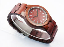 Luxury Rosewood Red Sandal Wood Case Analog Quartz Watch dress watch Wood Strap