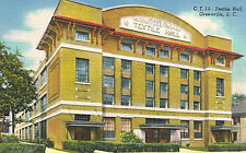 Vintage Postcard-Textile Hall,Greenville,S.C.Home of Southern Textile Exposition