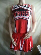 Wmhs Woman's Cheerleader Outfit Red w/ Red & White Trim Poly/Spandex Size L Nip