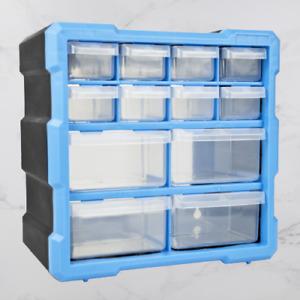 12 Drawer DIY Storage Organiser Unit Workshop Garage Shed Tools Screws Tool Box