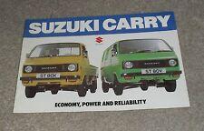 Suzuki Carry Brochure 1979 - ST80K & ST80V
