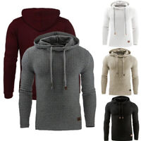 Mens Winter Hoodie Jumper Pullover Muscle Slim Fit Sports Tops Casual Sweatshirt