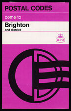 1967 GPO Postal Codes come to Brighton four-sided public information bulletin