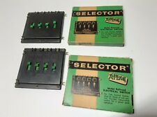 Vintage HO Scale Atlas Selector 4 Switch #981 Lot 2 With Boxes