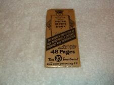 nef. Vintage Ward's Motor Record Book 48 Pages 35 Cents In Cellophane Wrapper