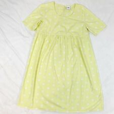 Mama Licious Maternity Size M Short Sleeve Scoop Neck Polka Dot Cotton Dress