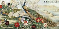 Large 40cmX84cm size Birds Vintage Deco canvas Wall Art Print Poster Unframed