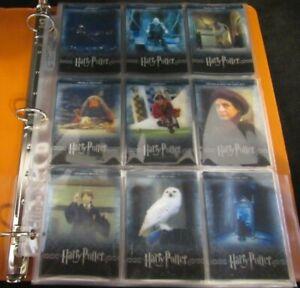 Harry Potter 3-D Trading Cards Complete Set 1-72 F039