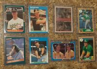 (8) Mark McGwire Jose Canseco 1987 Donruss Fleer Topps Rookie Card Lot RC 1986