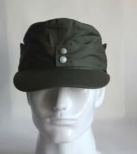 9f1affb55f8472 WWII German Army Elite EM M43 Summer Panzer Field Cotton Cap Hat Green 57cm