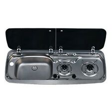 Smev Dometic 9222 Campervan sink and twin hob cooker combi unit & Template LH