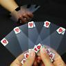 Trasparente Carte da Gioco Poker Deck Set Plastica Magico Impermeabile Scheda