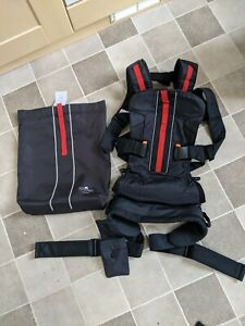 BabyBjörn Baby Child Carrier. Red black Outdoors One Mesh. VGC RRP £180