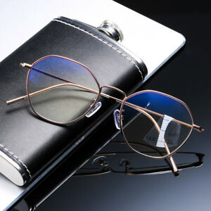 Retro Oversize glasses progressive multifocal anti blue Reading Glasses