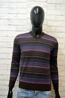 MARLBORO CLASSIC Maglione Uomo Taglia L Cardigan Pullover Lana Smanicato Wool