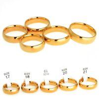 2 Stk Edelstahlring Fingerring Ring Edelstahl 18K Gold Damen Herren Mode Ringe