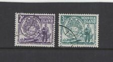 1956 Norfolk Islands SG 19/20 fu set of 2
