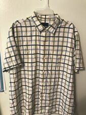 Tommy Bahama Short Sleeves button Shirt Silk Polyster Size L