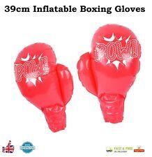 Par De Guantes De Boxeo Inflable Jumbo Gigante Pool/Cumpleaños/Gallina Fiesta 39 cm Reino Unido