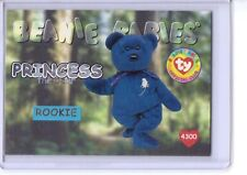 Ty S1 SERIES 1 SILVER ROOKIE *PRINCESS THE BEAR* Beanie Card ONLY #4300