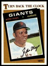 New listing 1986 Topps #403 Willie Mays TBC GIANTS NM-MT *1616