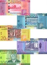 UNC SAMOA Set 5, 10, 20, 50, 100 Tala (2008-2012) P-38, 37, 40, 42, 43 Banknotes