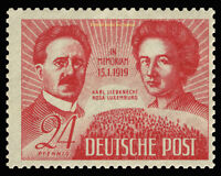 EBS Germany 1949 Soviet Occupation - Liebknecht & Luxemburg Michel 229 MNH**