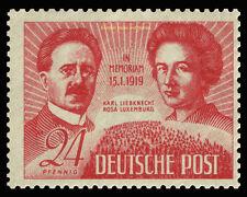EBS Germany 1949 Soviet Occupation - Liebknecht & Luxemburg Michel 229 MNH**