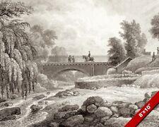 BRIDGE WATER OF LEITH EDINBURGH SCOTLAND PAINTING ARCHITECTURE ART CANVAS PRINT