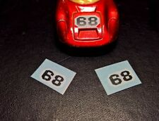 Matchbox superfast No68 Porche 910,         two bonnet stickers,  NO car