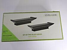 "Burnes Level Line Black Decorative Design Ledge Shelf 2 Pack 12"""