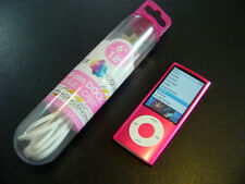 ~~EX & NEW Battery~~ Apple iPod nano 5th Generation Pink 8 GB w/New Cable BUNDLE
