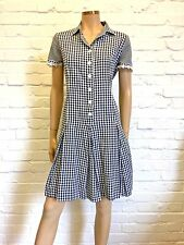 Ross & Bute Anonymous 100% Cotton Checked Shirt Dress Beautiful Design Uk 14