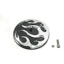 Black/Chrome Flame Air Cleaner Insert for 1999-2014 Harley Softail Dyna FLT