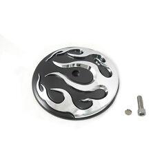 Black/Chrome Flame Air Cleaner Insert for 1999-2014 Harley Softail Dyna FLT