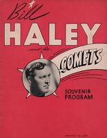 BILL HALEY & HIS COMETS ORIGINAL 1956 U.S. TOUR CONCERT PROGRAM BOOK / VG 2 EX