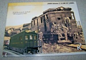 K-LINE ELECTRIC TRAIN Catalog - 2008 - Volume 2 - VGUC!