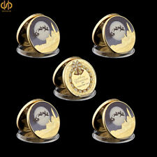 5PCS 2019 Merry Christmas Snowman Deer Gold Commemorative Coin Collection