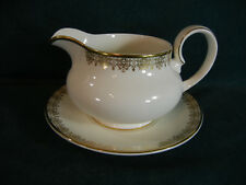 Royal Doulton Gold Lace Gravy Boat with Under Plate