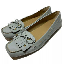 Isaac Mizrahi Bailey Patent Bow Kilt Moccasin Loafer Shoes Women's 9