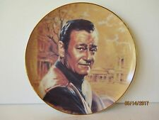 SUSIE MORTON JOHN WAYNE FRAMED COLLECTORS PLATE THE DUKE - EXCELLENT - FREE SHPG