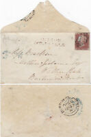 1851 QV BIRMINGHAM SCARCE SUTTON COLDFIELD CANCEL ON COVER WITH A 1d RED STAMP