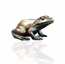 Bird Bronze Sculpture - Baby Frog Sitting - Limited Edition. Keith Sherwin.