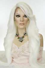 Long Straight Lace Front Heat Friendly Blonde Brunette Red Grey Wigs Side Part
